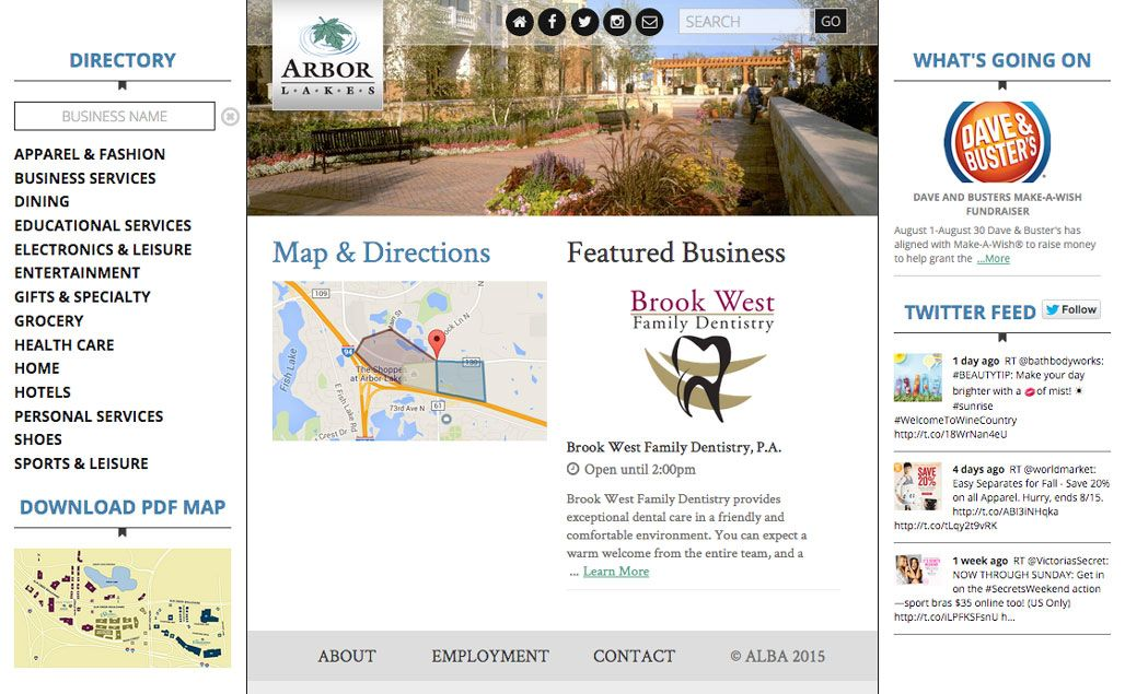 Arbor Lake Business Association Website