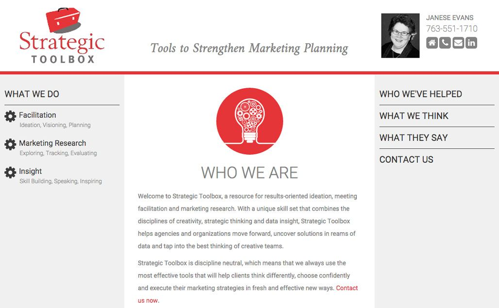 Strategic Toolbox Website