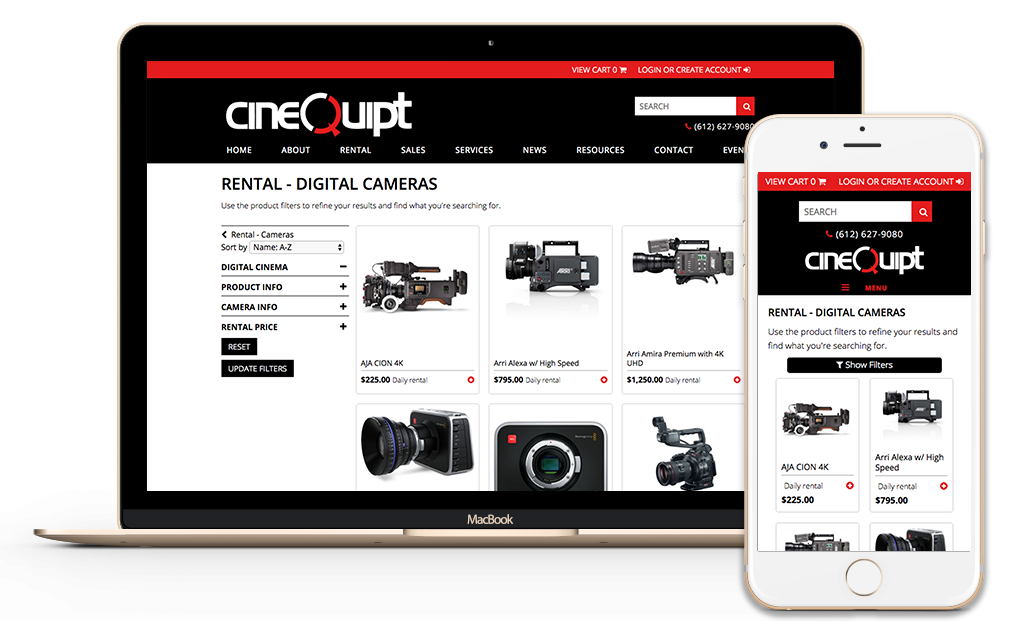 Cinequipt E-commerce Website